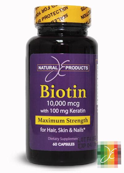 ... Biotin 10,000 mcg + 100 mg Keratin, 60 cap. Hot-25%